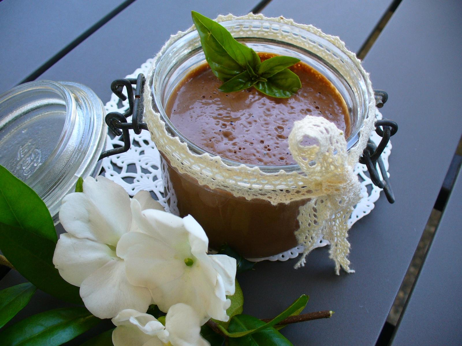 une douce crème au tofu et chocolat