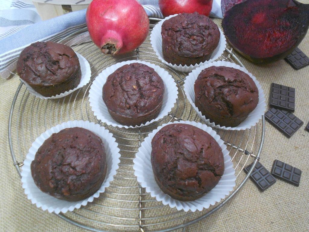 muffin sans gluten à la betterave
