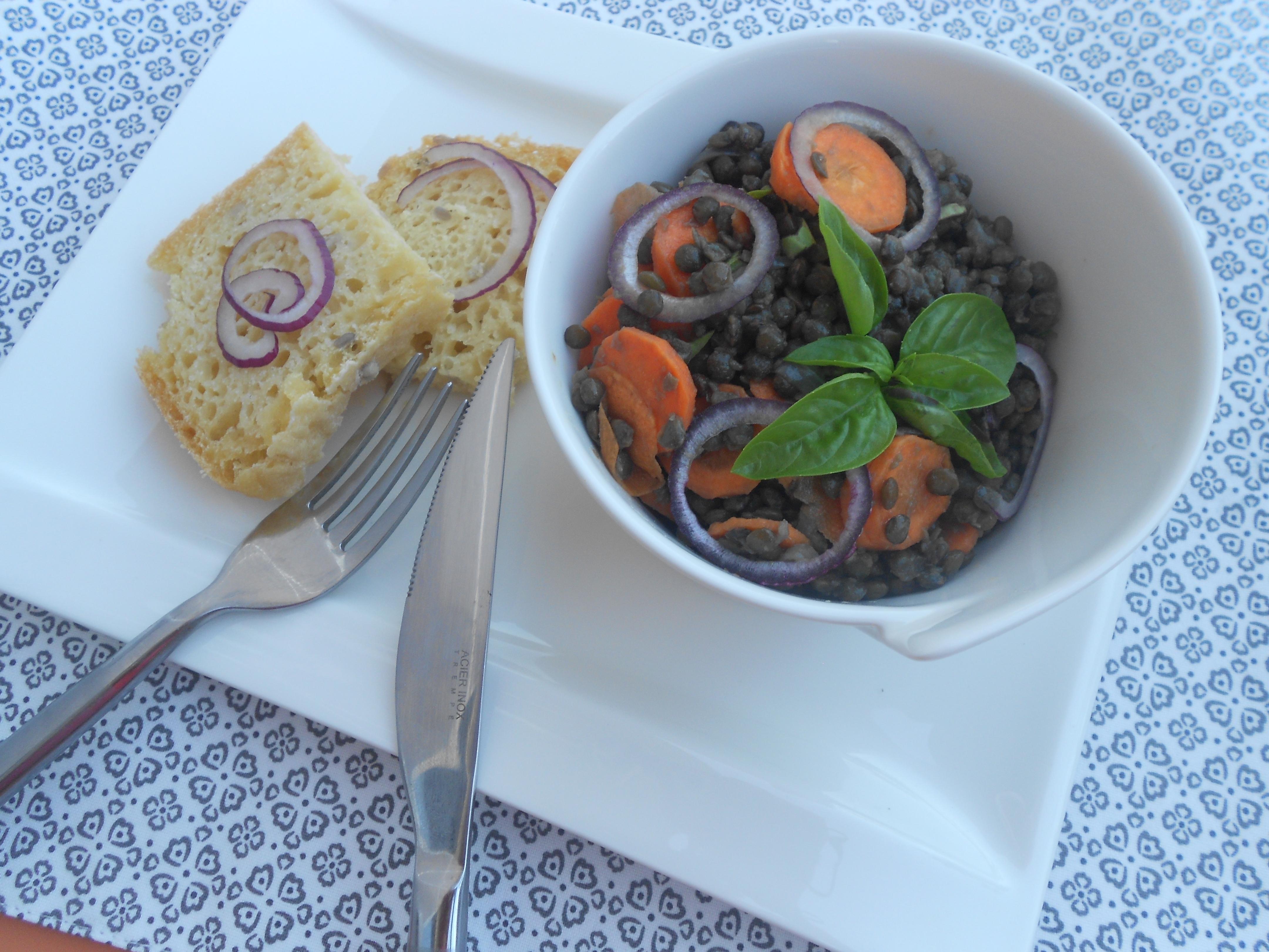 salade de lentilles un aliment riches en protéines et en zinc