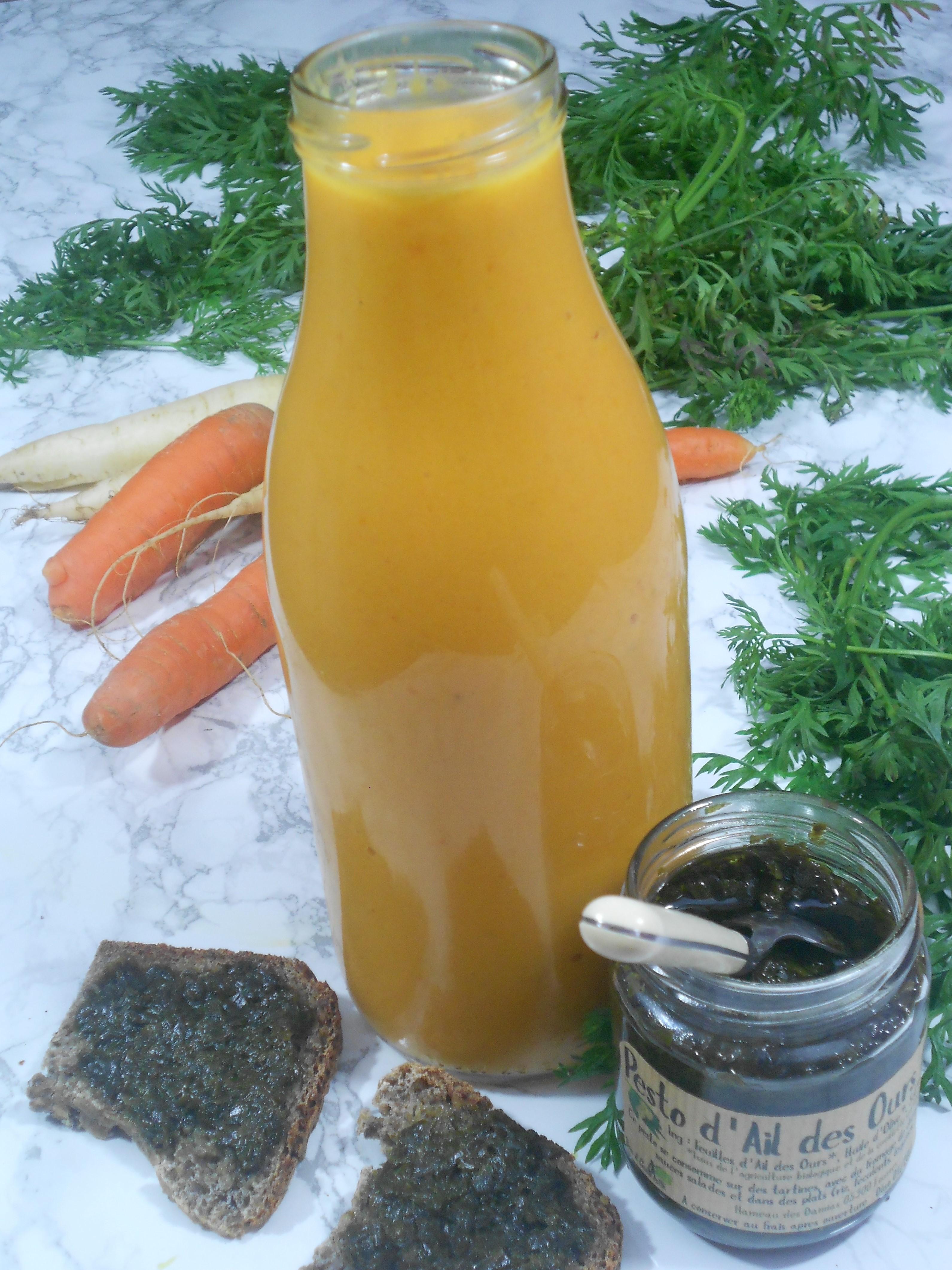 une soupe de carottes de vitamineée