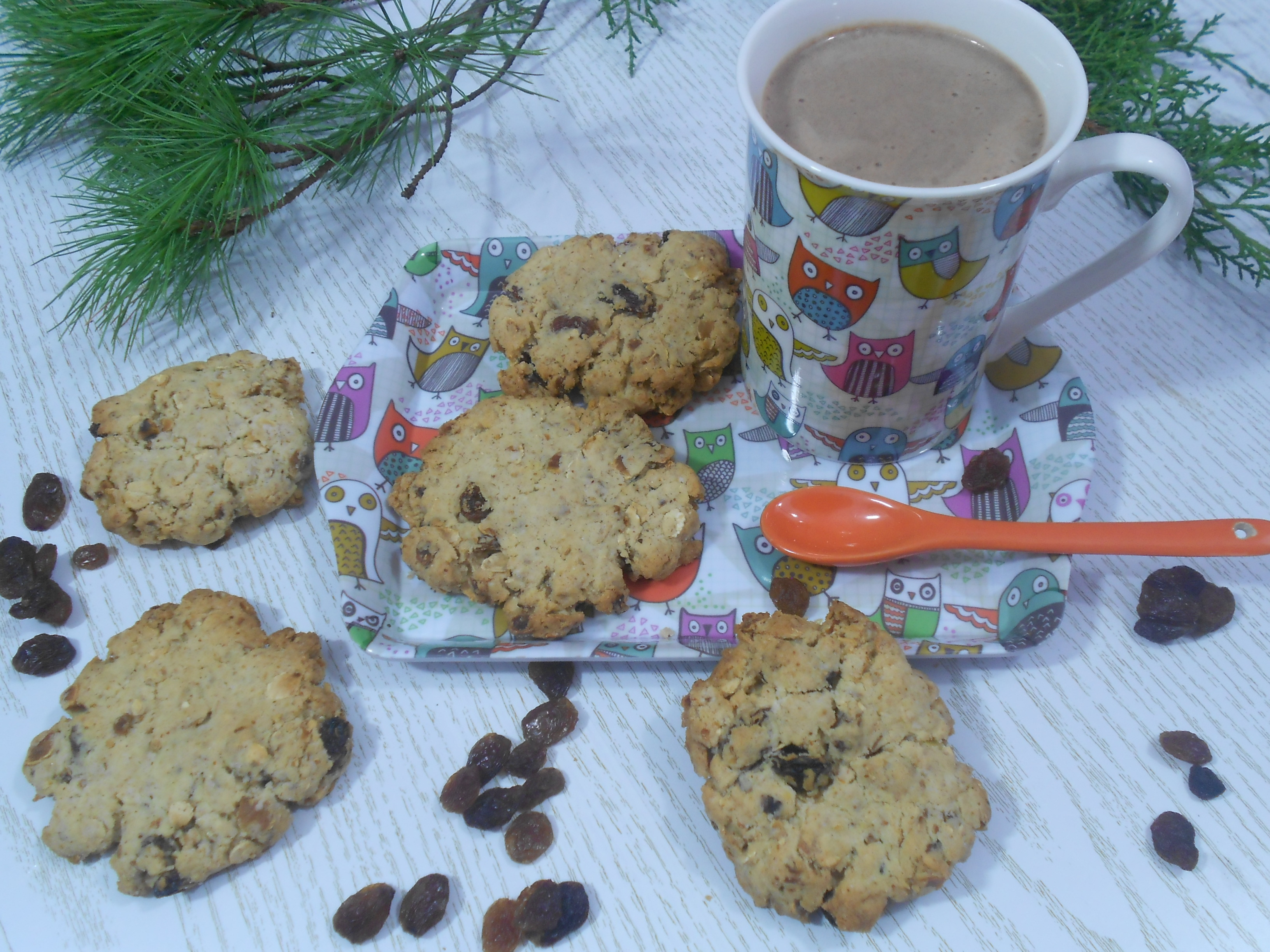 des cookies gourmands aux flocons de châtaignes