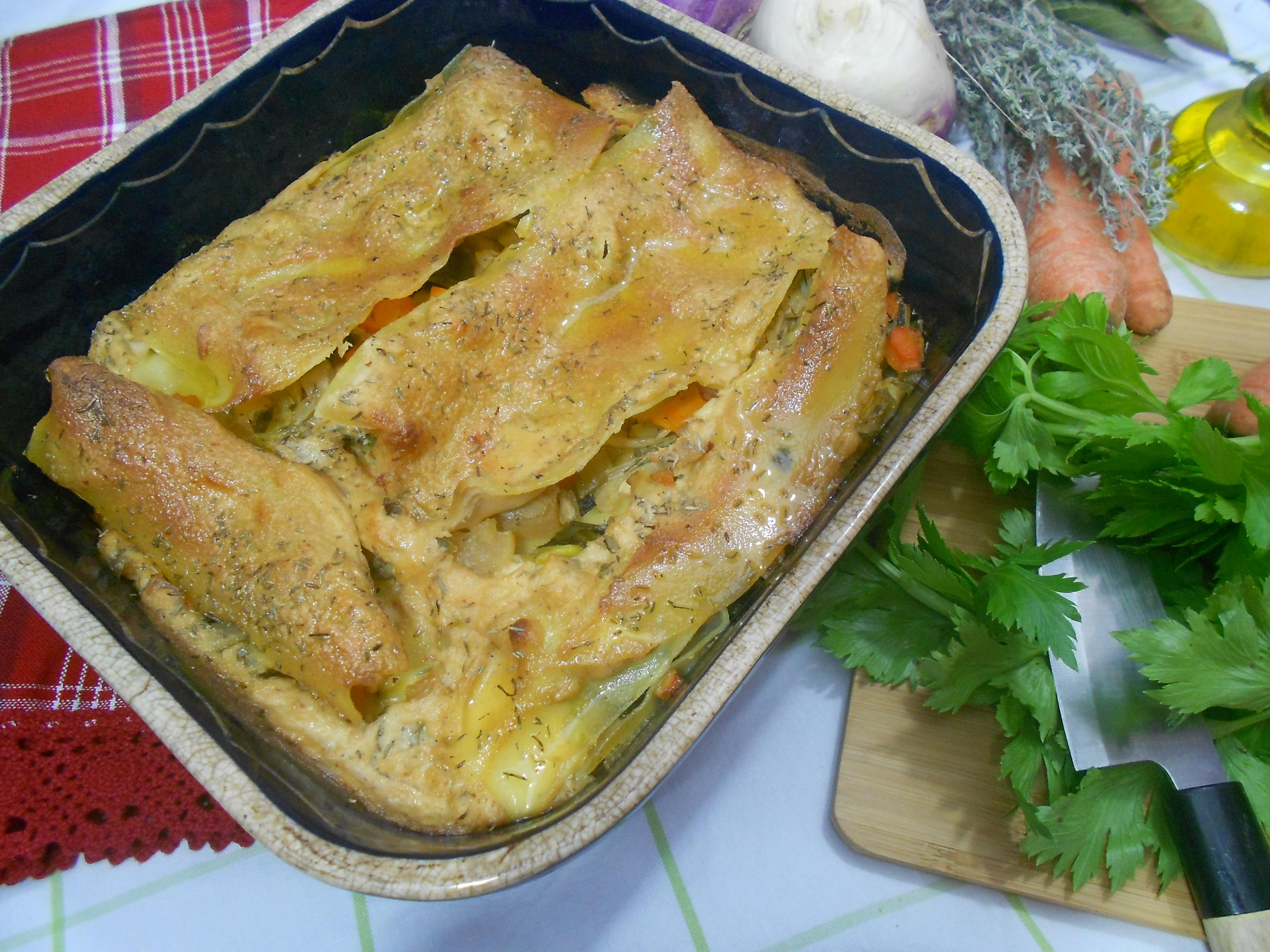 lasagnes de légumes pour une alimentation saine