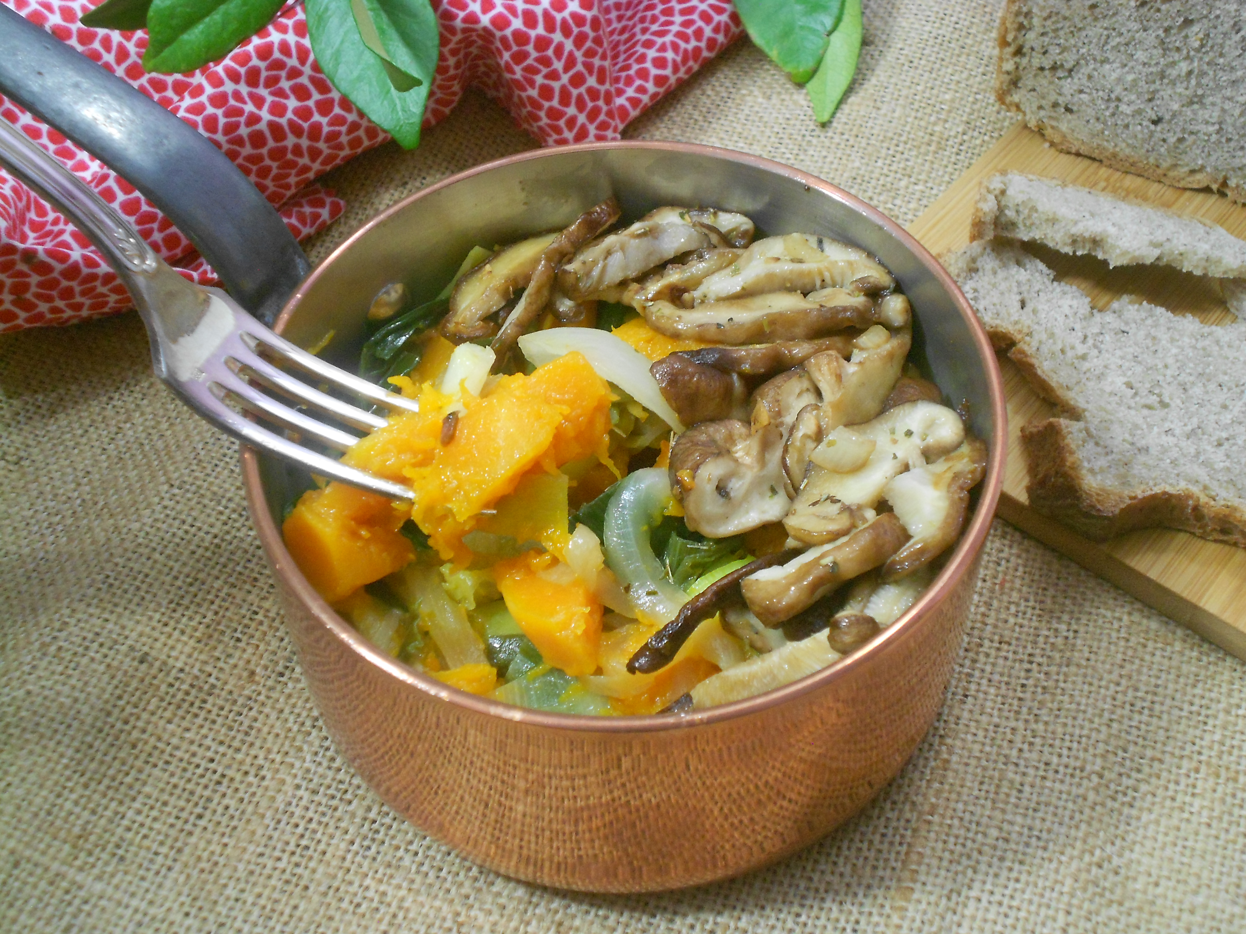 une fricassé gourmande aux champignons et potiron
