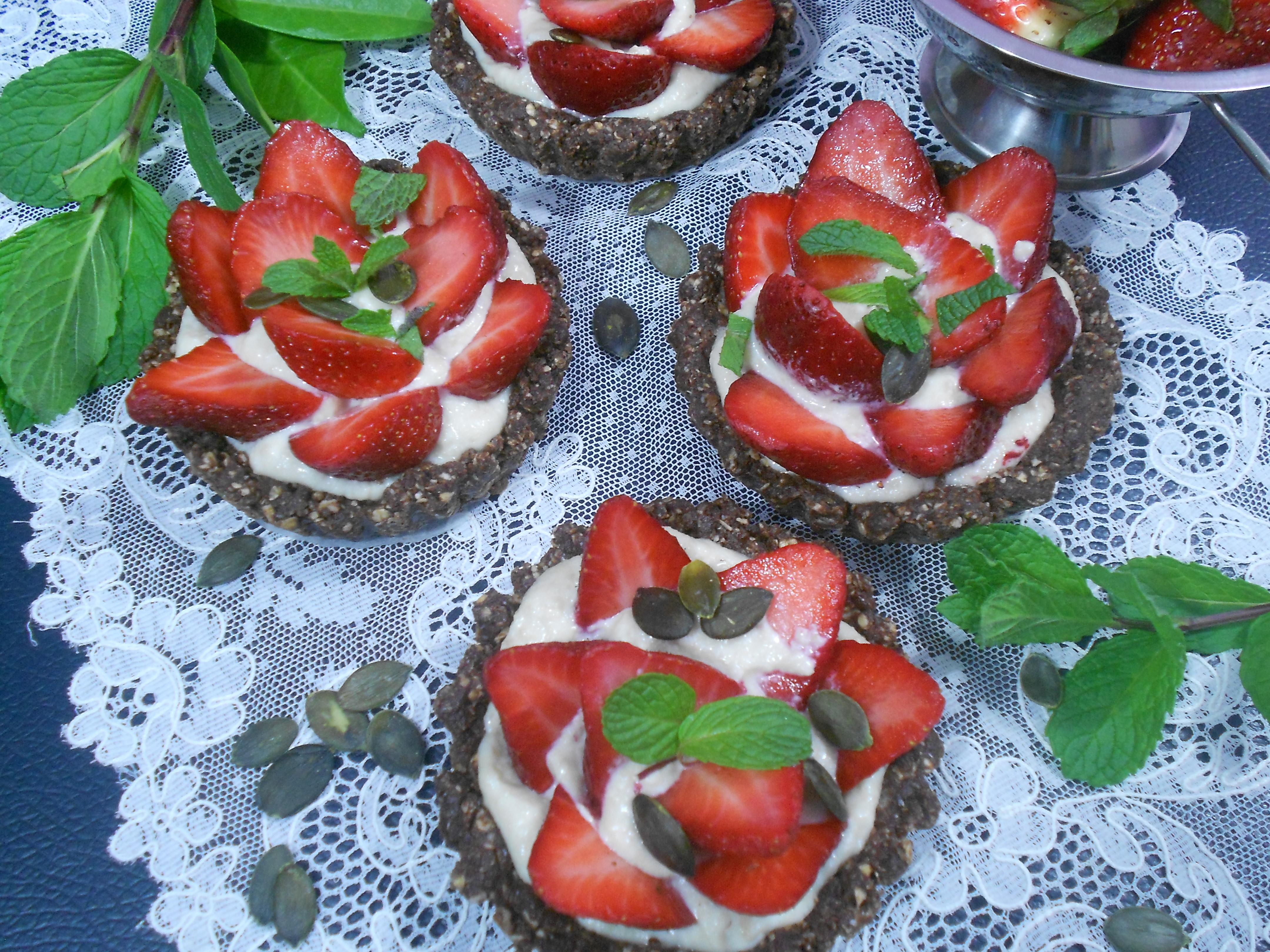 Dessert sain et gourmand aux fraises
