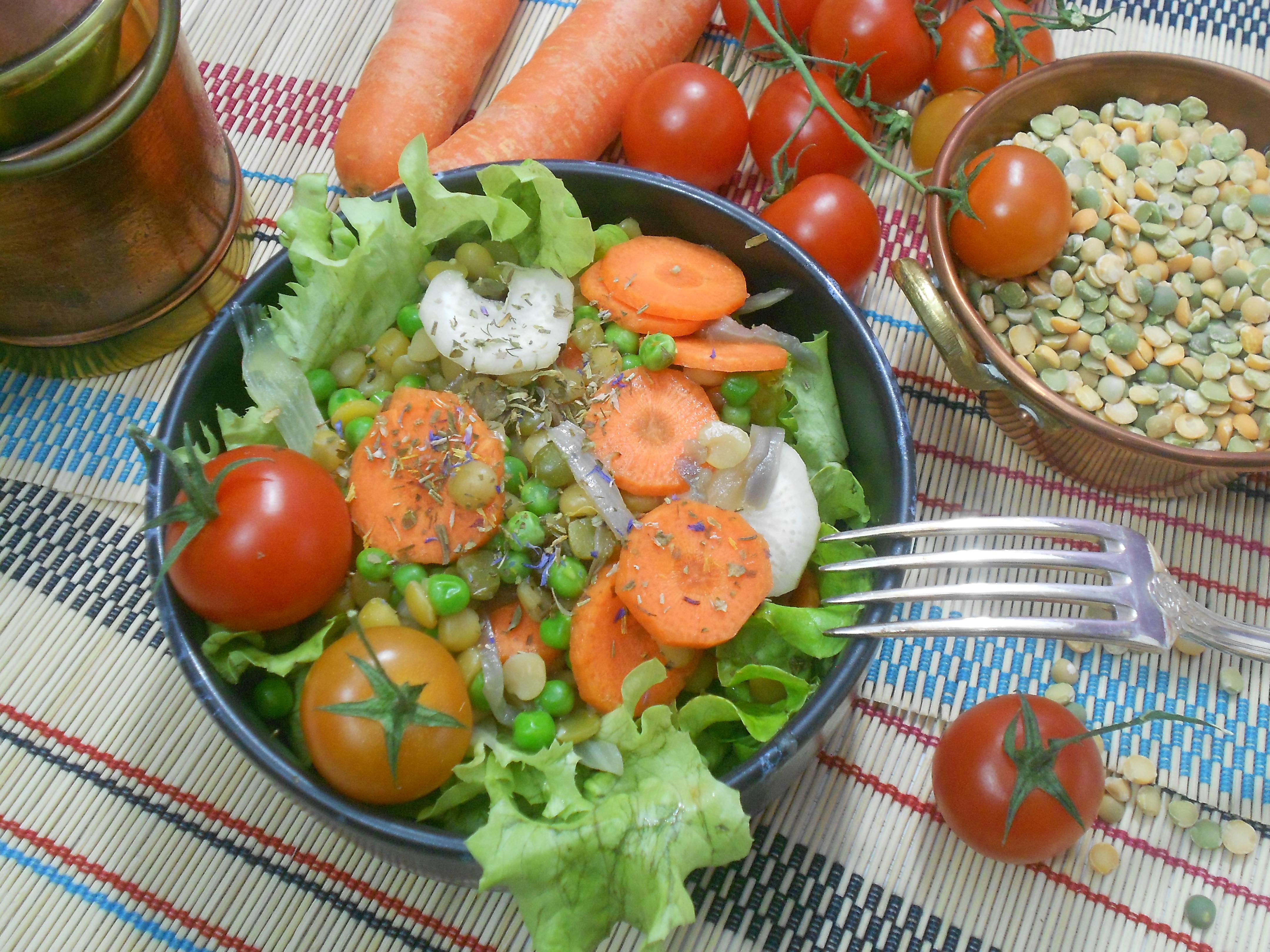une salade de légumineuses un aliment riche en fibres