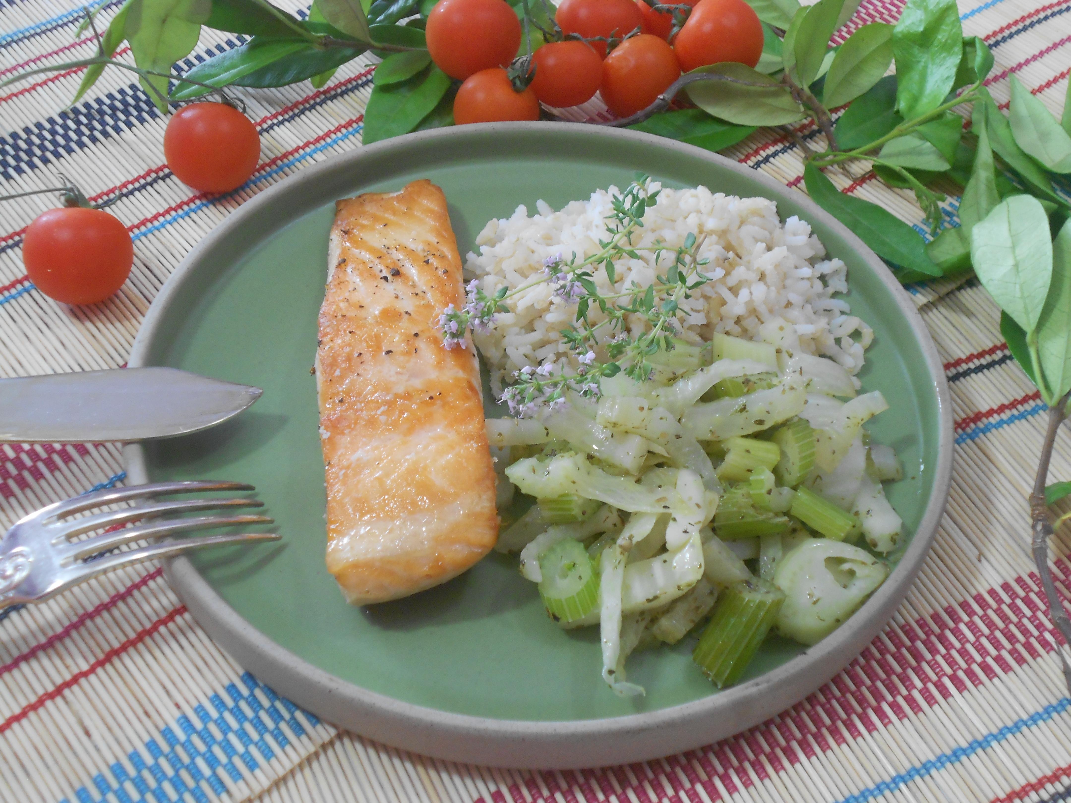 saumon et fenouil un aliment protéiné