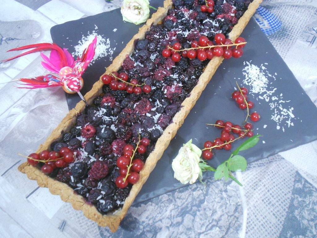 tarte aux fruits rouges sans gluten sans lactose
