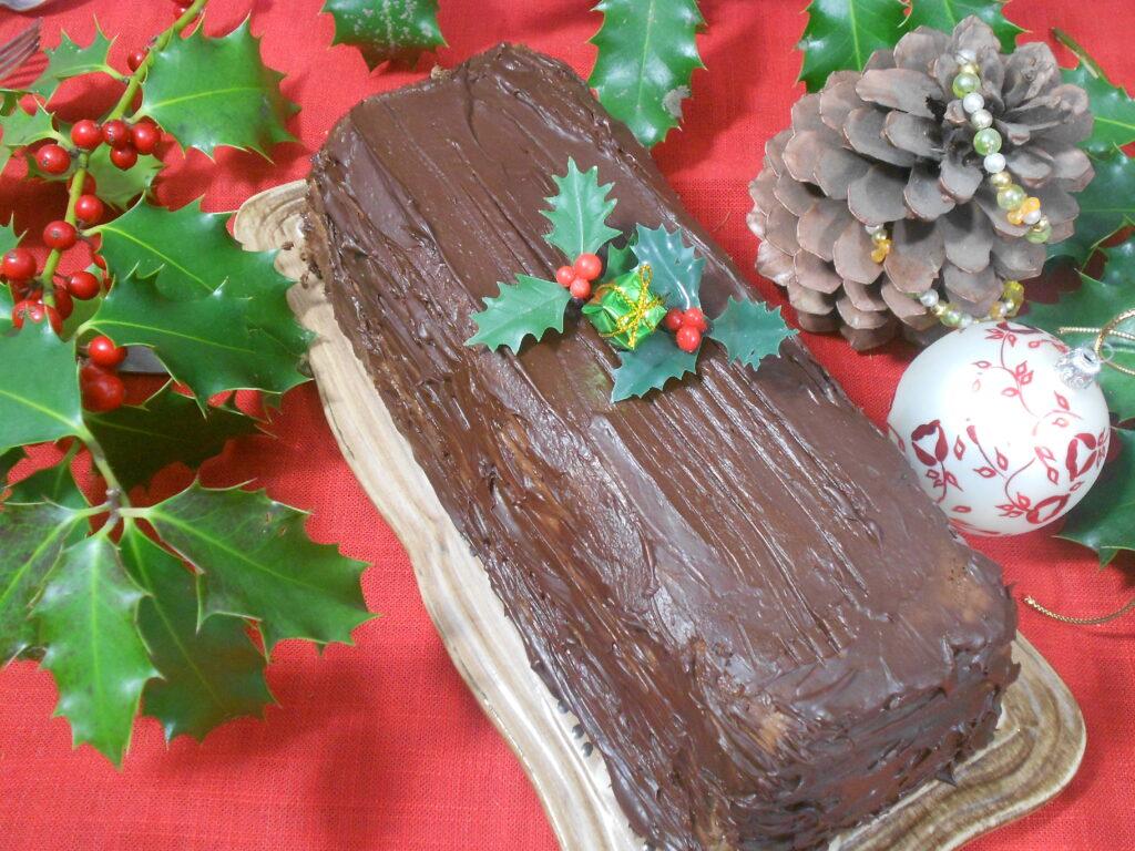 Bûche chocolat sans gluten