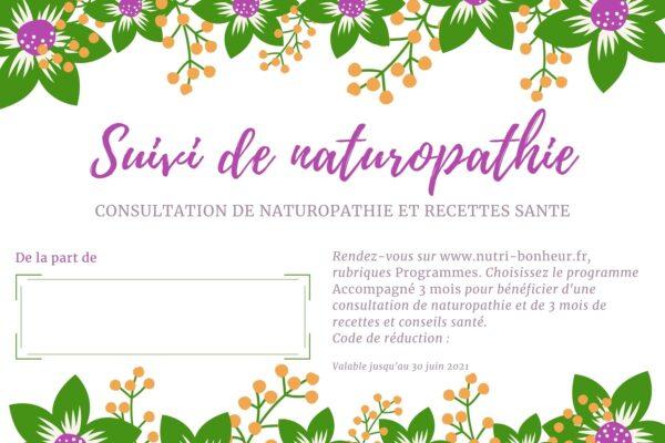 carte cadeau naturopathie
